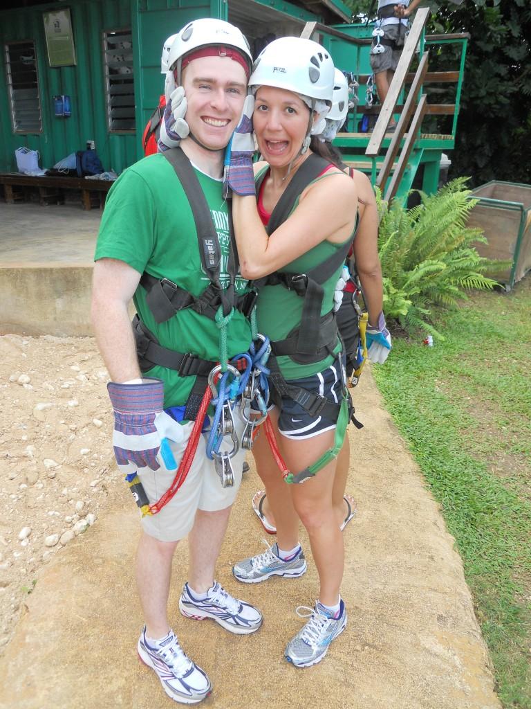 Zip lining in Jamaica {Honeymoon!}