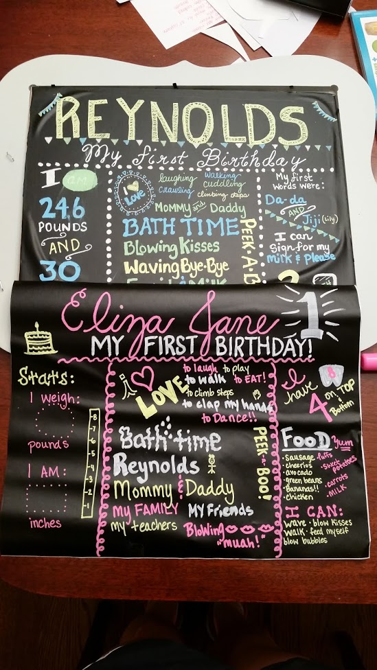 Eliza Jane bday board 4